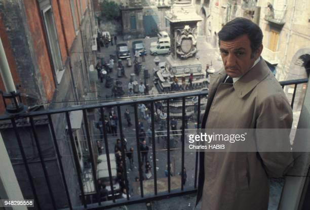 Lino Ventura dans le film 'Cadavres Exquis' réalisé par Francesco Rosi en avril 1975 en Italie