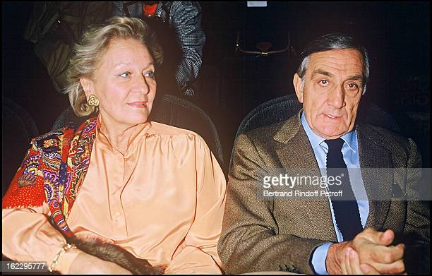 Lino Ventura with his wife Odette at the party celebrating Les Longs Manteaux premiere