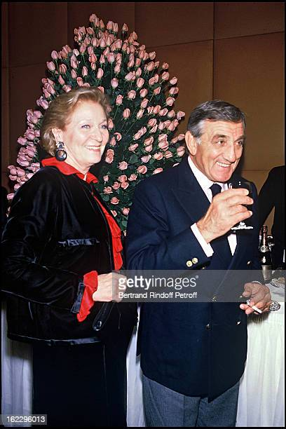 Lino Ventura with his wife Odette Premiere magazine party in Paris in 1984