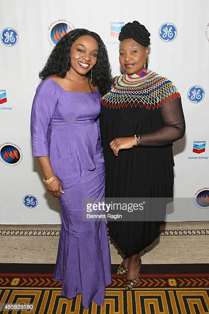 Linord Rachel Moudou and Yvonne Chaka Chaka attend the 30th Annual Awards Gala hosted by The AfricaAmerica Institute at Gotham Hall on September 22...