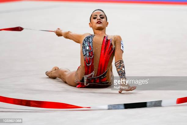 Linoy Ashram of Israel during Individual All-Around Final at the Arena Armeec in Sofia at the 36th FIG Rhythmic Gymnastics World Championships on...