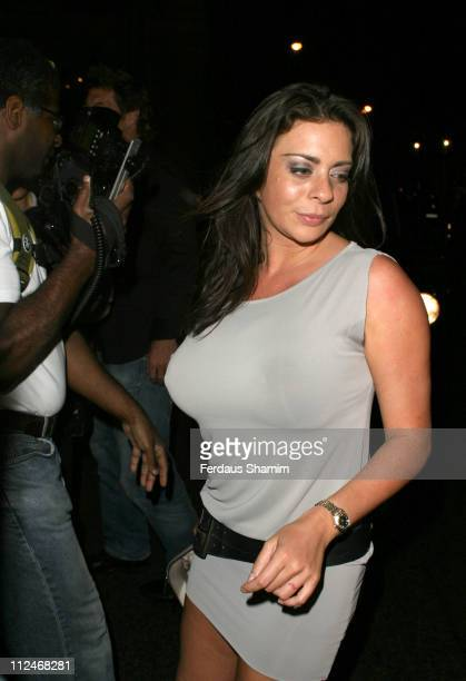 Linsey Dawn McKenzie during Linsey Dawn McKenzie's Birthday Party at Neils in London Great Britain