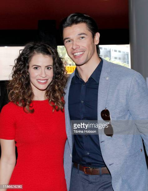 Linsey Godfrey and Paul Telfer attend NBC's 'Days Of Our Lives' press event at Universal CityWalk on November 09 2019 in Universal City California