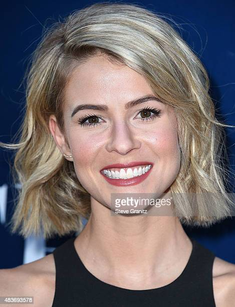 Linsey Godfrey arrives at the CBS CW And Showtime 2015 Summer TCA Party at Pacific Design Center on August 10 2015 in West Hollywood California
