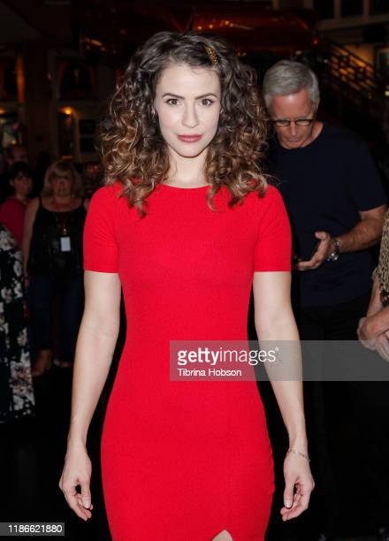 Linsey Godfrey attends NBC's 'Days Of Our Lives' press event at Universal CityWalk on November 09 2019 in Universal City California
