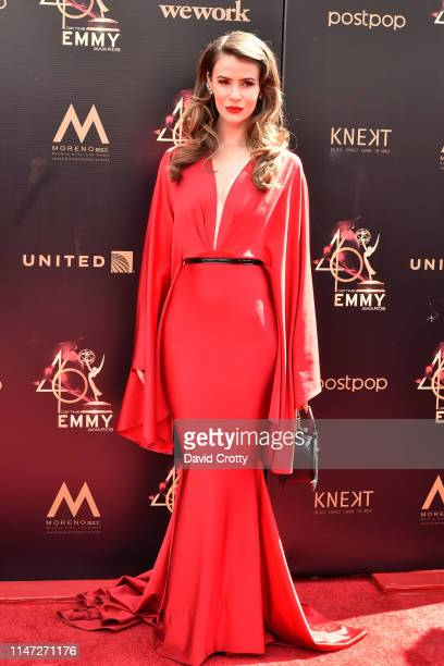 Linsey Godfrey attends the 46th annual Daytime Emmy Awards at Pasadena Civic Center on May 05 2019 in Pasadena California