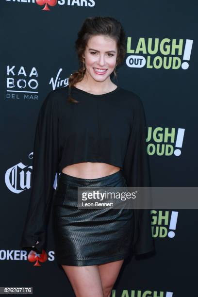 Linsey Godfrey attends the Kevin Hart and Jon Feltheimer Host Launch Of Laugh Out Loud at Private Residence on August 3 2017 in Beverly Hills...