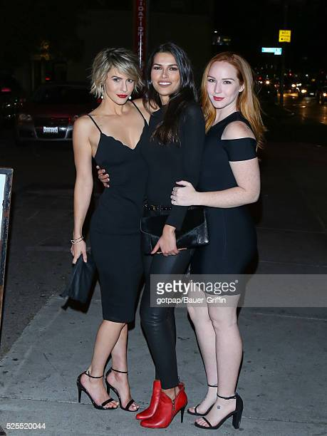 Linsey Godfrey Camryn Grimes and Sofia Pernas are seen on April 27 2016 in Los Angeles California