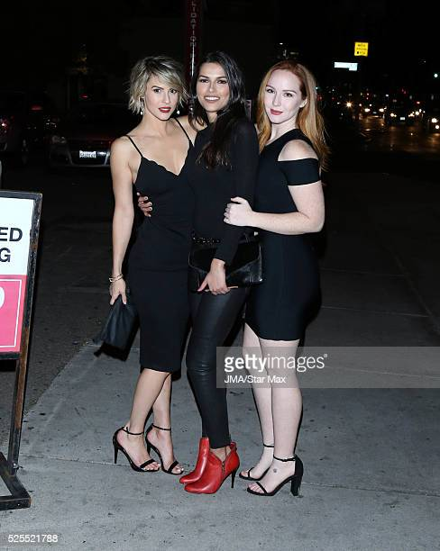 Linsey Godfrey Camryn Grimes and Sofia Pernas are seen on April 27 2016 in Los Angeles