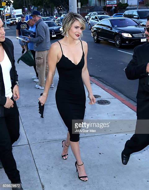 Linsey Godfrey is seen on April 27 2016 in Los Angeles
