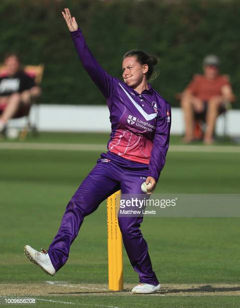 Linsey Smith of Loughborough Lightning in action during the Kia Super League match between Loughborough Lightning and Surrey Stars at Haslegrave...
