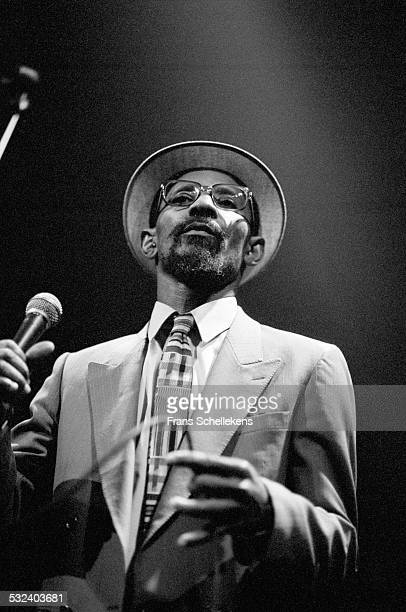 Linton Kwesi Johnson, vocals, performs at the Paradiso on May 26th 1998 in Amsterdam, Netherlands.