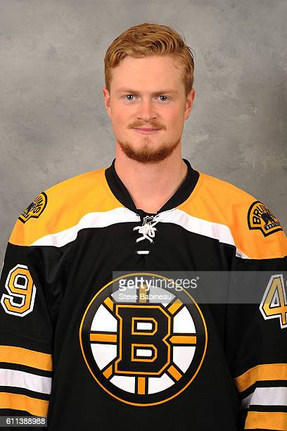 Linus Arnesson of the Boston Bruins poses for his official headshot for the 20162017 season on September 23 2016 in Watertown Massachusetts