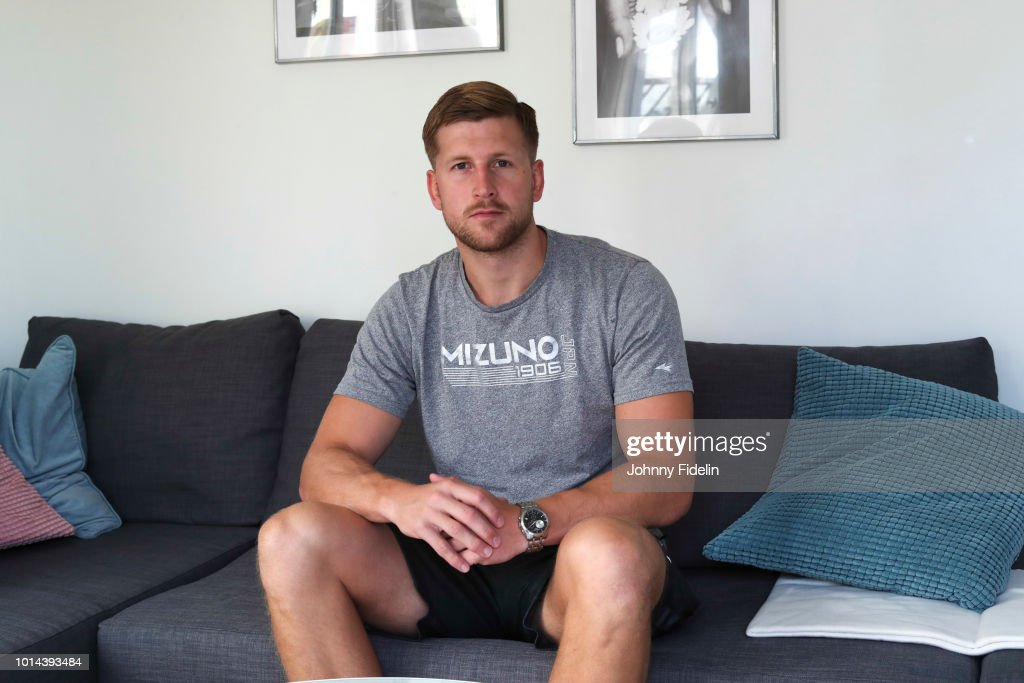 Linus Persson new player of Ivry during a photoshoot on August 10, 2018 in Ivry-sur-Seine, France.
