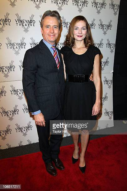 Linus Roach and Heather Burns attend the opening night of Will Eno's Middletown at Vineyard Theatre on November 3 2010 in New York City