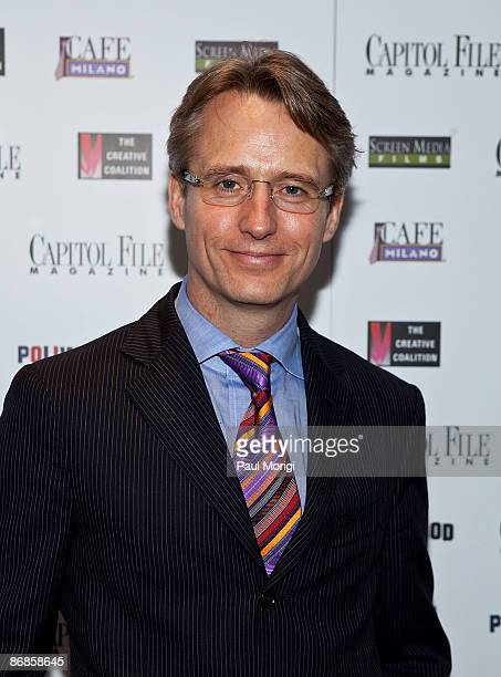 Linus Roache arrives at the premiere of Poliwood hosted by Capitol File The Creative Coalition at Naval Heritage Museum on May 8 2009 in Washington DC