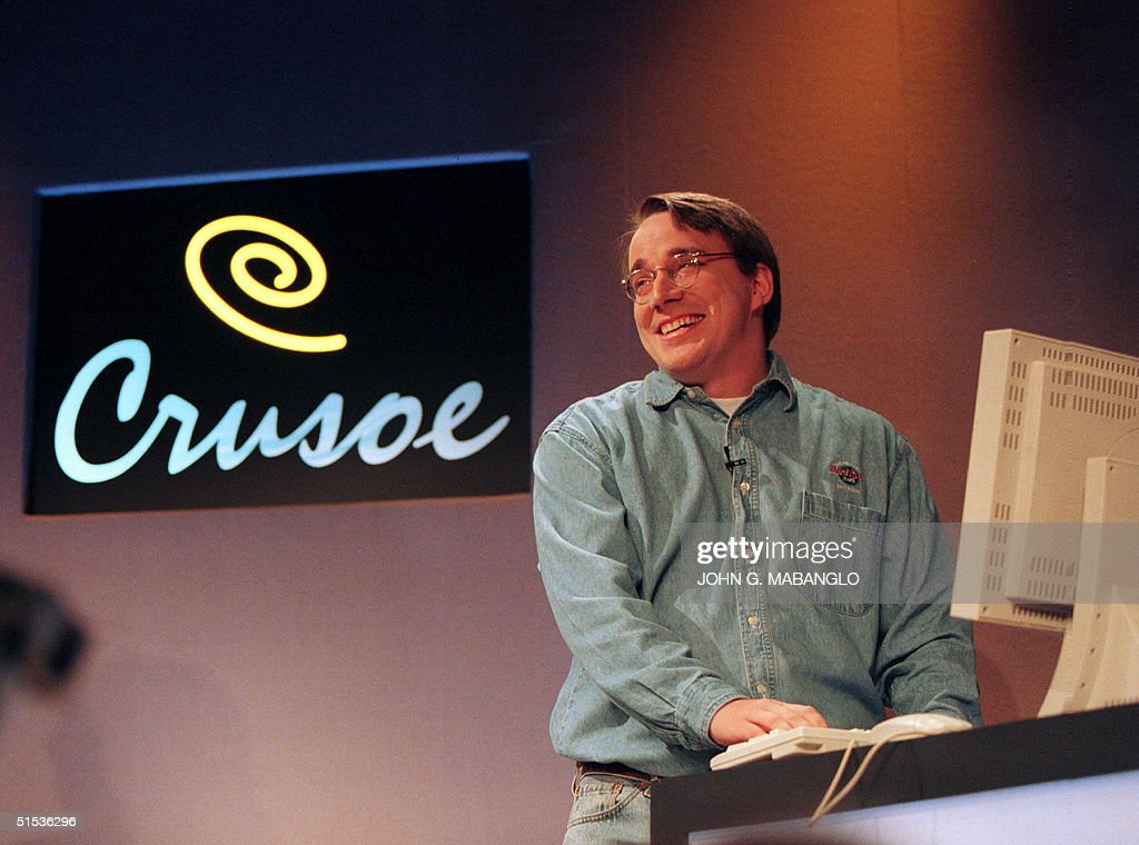 Linus Torvalds, who wrote the free Linux computer : News Photo