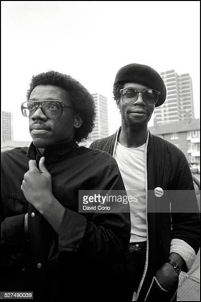 Linx David Grant and Peter Martin at the BBC White City London United Kingdom January 1981