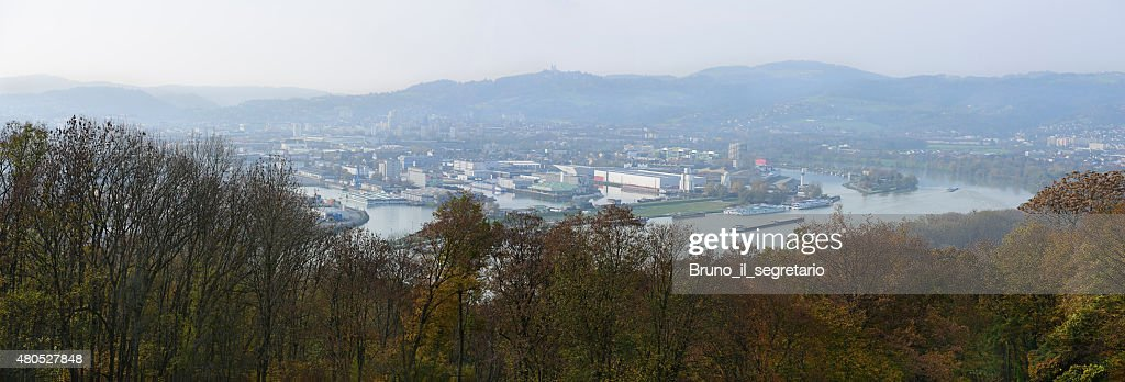Linz, die Hauptstadt von Oberösterreich : Stock-Foto