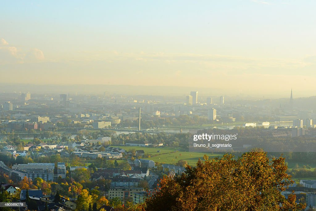 Linz, capital of Upper Austria : Stock Photo