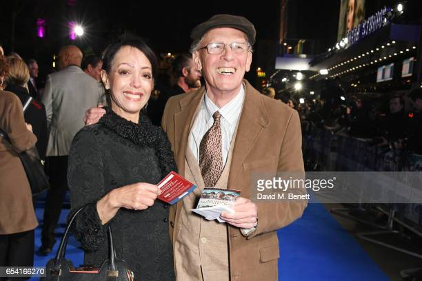 """Linzi Beuselinck and Paul Nicholas attend the World Premiere of """"Another Mother's Son"""" on March 16, 2017 in London, England."""