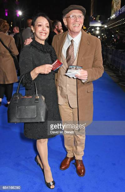 Linzi Beuselinck and Paul Nicholas attend the World Premiere of Another Mother's Son on March 16 2017 in London England