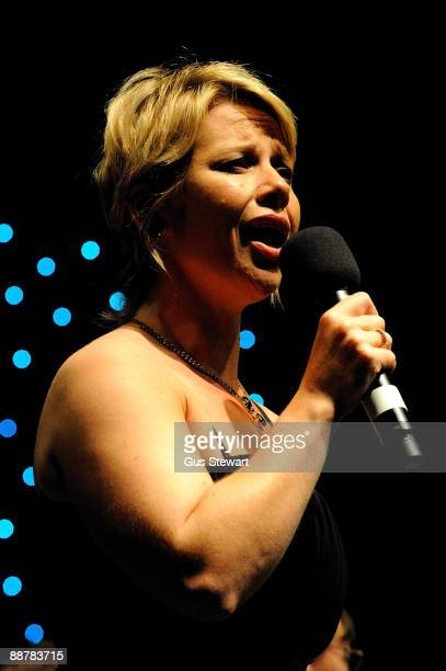 Linzi Hateley performs at a show celebrating the life and music of Judy Garland on stage for BBC Radio 2 at The Mermaid Theatre on July 1 2009 in...