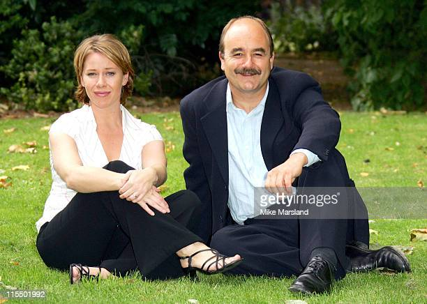 Linzi Hately and David Haig during 'Mary Poppins' Cast Photocall at Sadlers Wells in London England Great Britain
