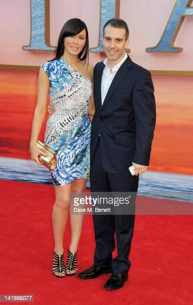 Linzi Stoppard and Ed Stoppard arrive at the World Premiere of 'Titanic 3D' at the Royal Albert Hall on March 27 2012 in London England