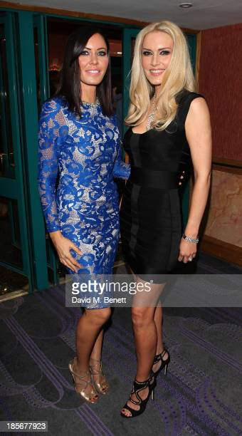 Linzi Stoppard and Emma NobelBaker attend the London Lifestyle Awards at the Troxy on October 23 2013 in London England