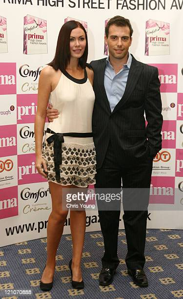 Linzi Stoppard and guest during 2006 Comfort Prima High Street Fashion Awards Inside Arrivals at London Hilton in London Great Britain