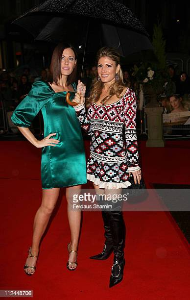 Linzi Stoppard and Hofit Golan during Becoming Jane London Premiere Arrivals at Odeon West End in London Great Britain