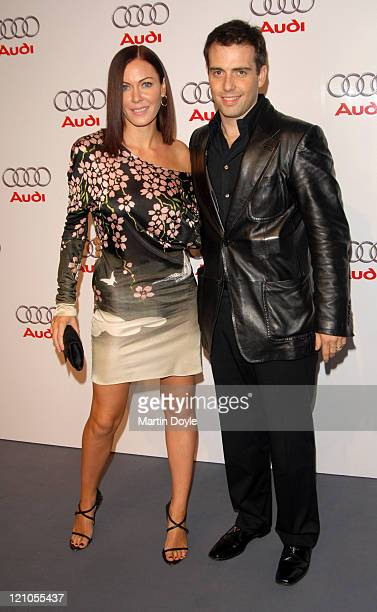 Linzi Stoppard and Will Stoppard during Launch Party for the New Audi R8 Sports Car Inside Arrivals at Canary Wharf in London Great Britain