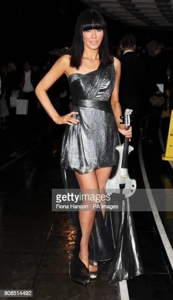 Linzi Stoppard arrives at the Dorchester Park Lane London for Fashion for the Brave