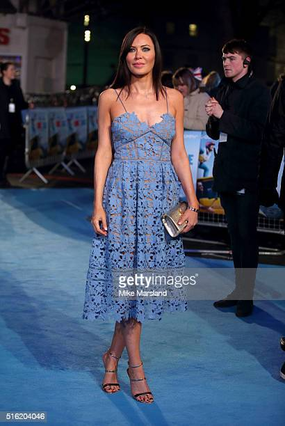 Linzi Stoppard arrives for the European premiere of 'Eddie The Eagle' at Odeon Leicester Square on March 17 2016 in London England
