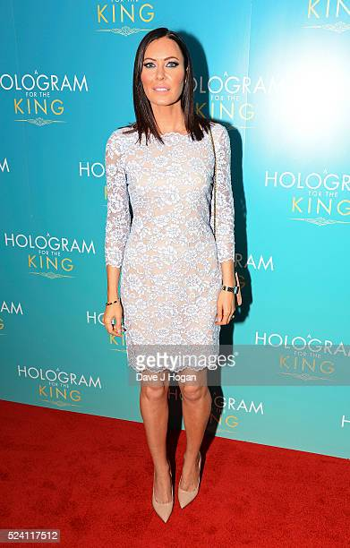 Linzi Stoppard arrives for the UK premiere of 'A Hologram For The King' at BFI Southbank on April 25 2016 in London England