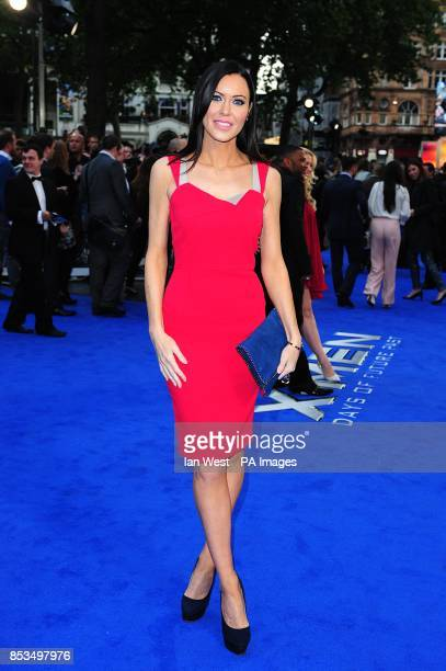 Linzi Stoppard arriving at the X-Men Days of Future Past UK premiere, at The West End Odeon, Leicester Square, London.