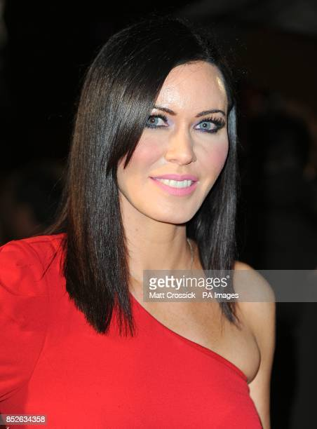 Linzi Stoppard arriving for the World Premiere of The Hunger Games Catching Fire at the Odeon Leicester Square London