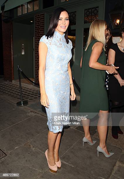 Linzi Stoppard attending The Ivy Chelsea Garden Launch Party on April 14 2015 in London England