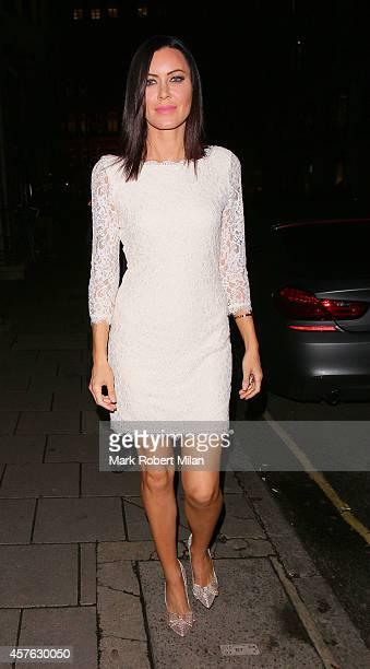 Linzi Stoppard attending the Myla 15th Anniversary celebration on October 21 2014 in London England