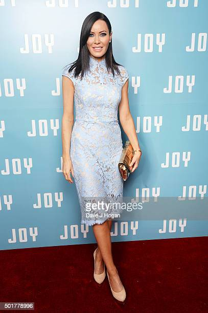 Linzi Stoppard attends a special screening of 'Joy' at Ham Yard Hotel on December 17 2015 in London England