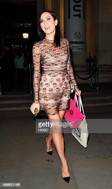 Linzi Stoppard attends 'Lan NguyenGrealis Art Makeup book' launch party on September 17 2015 in London England