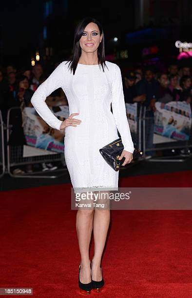 Linzi Stoppard attends the European premiere of 'One Chance' at the Odeon Leicester Square on October 17 2013 in London England