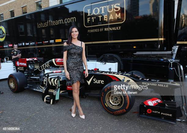 Linzi Stoppard attends The Grand Prix Ball at the Royal Artillery Gardens on July 3 2014 in London England