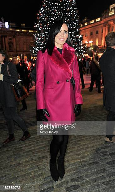 Linzi Stoppard attends the launch of Skate at Somerset House on November 13 2013 in London England