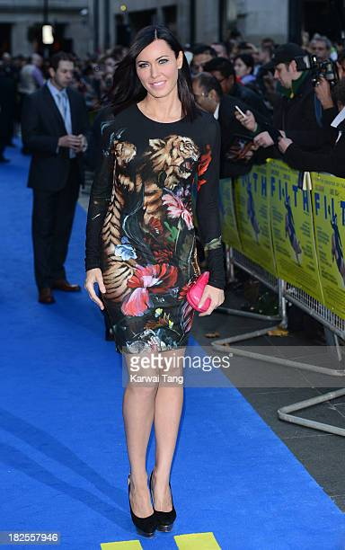Linzi Stoppard attends the London Premiere of 'Filth' at the Odeon West End on September 30 2013 in London England