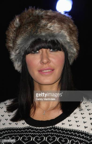 Linzi Stoppard attends the opening night of 'Tower of London Ice Rink' at Tower of London on November 19 2010 in London England
