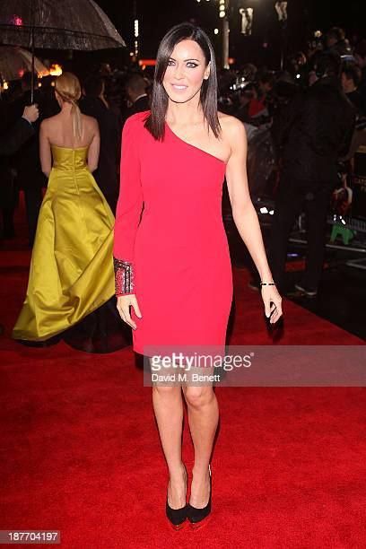 Linzi Stoppard attends the UK Premiere of 'The Hunger Games Catching Fire' at Odeon Leicester Square on November 11 2013 in London England