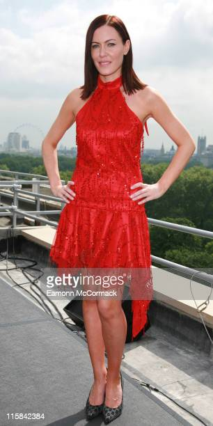 Linzi Stoppard during Linzi Stoppard at InterContinental London Park Lane Photocall at InterContinental Hotel in London United Kingdom
