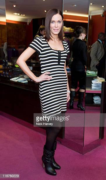Linzi Stoppard during Ozwald Boateng Launch Party for His New Collection March 22 2007 at Ozwald Boateng Store in London United Kingdom